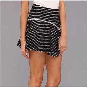 Free People Black & White Bento Skater Skirt 4